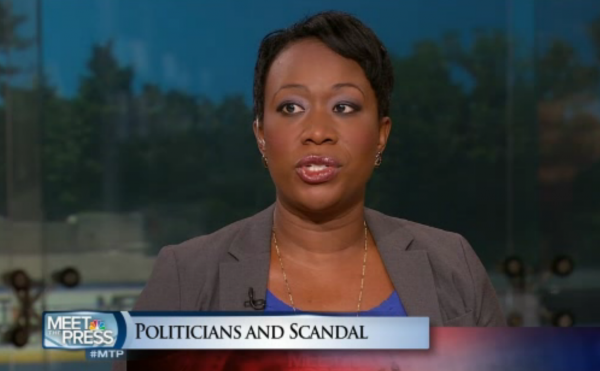 Joy-Ann Reid has been an ubiquitous media presence over the last year. In this screen shot from NBC News, Reid is a panelist on <em>Meet the Press</em>. Might her own cable news show be in the offing?