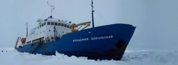 Stuck in the ice: The MV Akademik Shokalskiy.