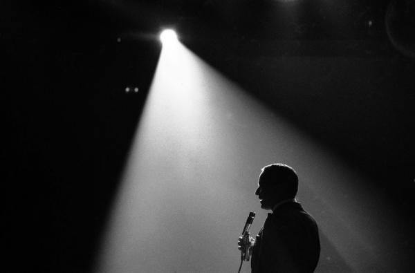 Frank Sinatra singing during a performance in Las Vegas, Nev., April 1965