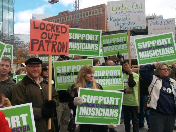 A show of support for the musicians of the Minnesota Orchestra, who have been locked out of their concert hall since October 2012.