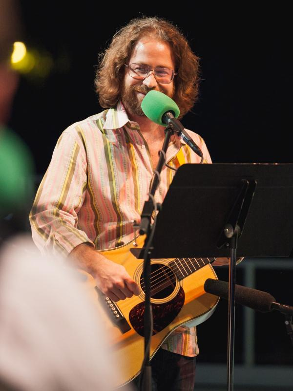 Jonathan Coulton,<em> Ask Me Another</em>'s versatile house musician, has a song to play for any occasion.