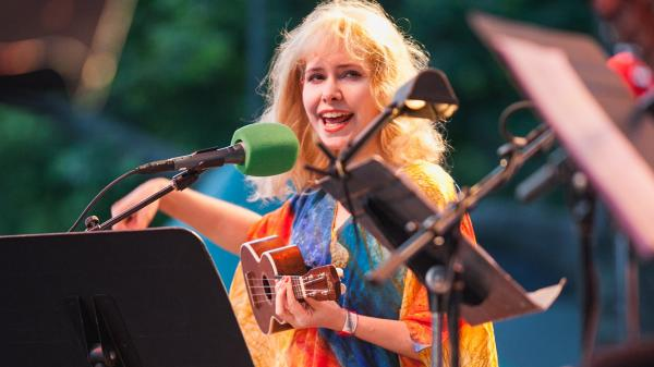 Singer-songwriter Nellie McKay, known for her offbeat lyrics and quirky humor, joined <em>Ask Me Another </em>in Central Park.