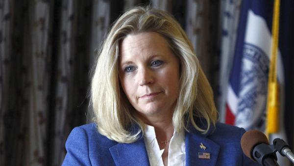 Liz Cheney campaigns in Casper, Wyo., on July 17, one day after announcing her GOP primary challenge to Sen. Mike Enzi.