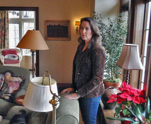 Oregon First Lady Cylvia Hayes gave reporters a tour of energy efficiency upgrades at Mahonia Hall.