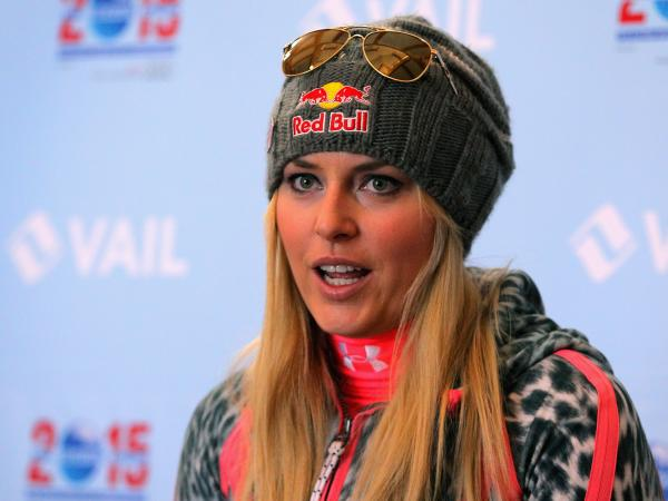 Skier Lindsey Vonn in November, before her latest injury.