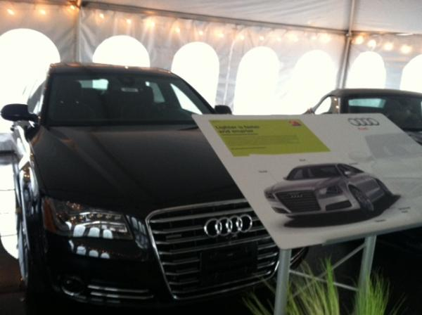 A car made with Novelis aluminum on display during the company's October commissioning ceremony.