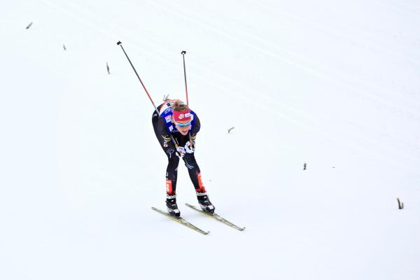 Sadie Bjornsen in the 2013 Nordic World Championships at Val di Fiemme, Italy. She is on the U.S. Olympic team.