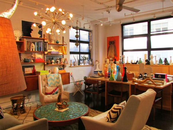 A peek inside the dream factory: Jonathan Adler's office.