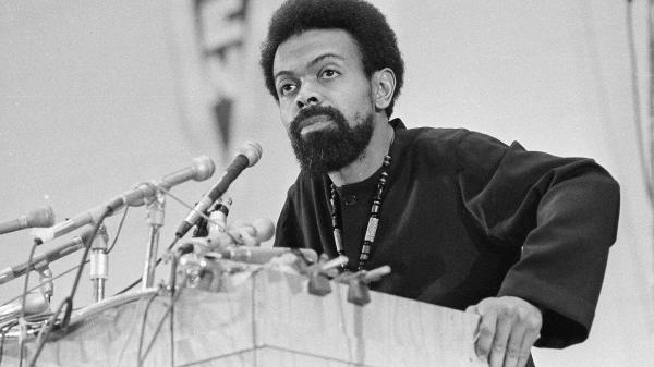 Poet and activist Amiri Baraka, seen here during the 1972 Black Political Convention in Gary, Ind., has died at age 79.
