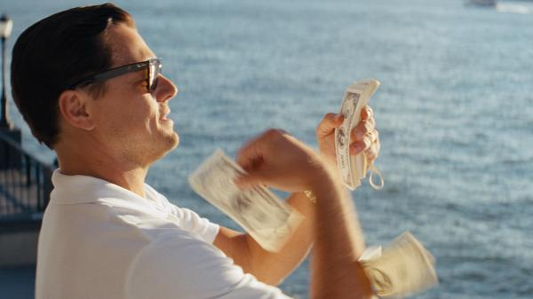 <strong>Other people's money:</strong> Leonardo DiCaprio plays high-living stock swindler Jordan Belfort in <em>The Wolf of Wall Street.</em>
