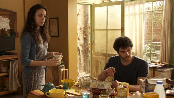 Marie (Bérénice Bejo) and Samir (Tahar Rahim) are lovers in Farhadi's domestic drama — a story complicated by the orbiting presence of Marie's soon-to-be ex-husband.