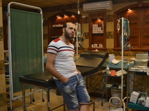 Kotaiba Mohammad worked as a nurse at a medical clinic in Aleppo, helping those wounded in Syria's civil war.