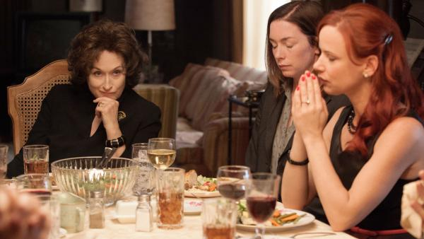 From left, Meryl Streep, Julianne Nicholson and Juliette Lewis star in <em>August: Osage County</em>.
