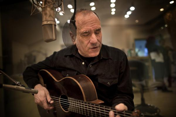 Israeli musician, David Broza, performs in the Here & Now studios. (Jesse Costa/Here & Now)