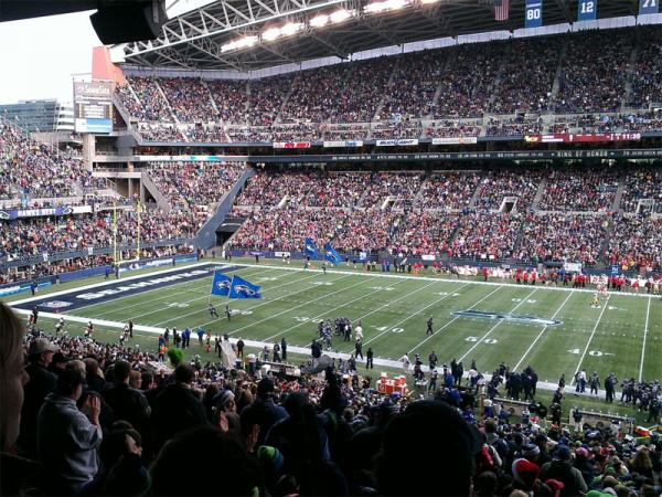A view of CenturyLink FIeld during a Seattle Seahawks game.