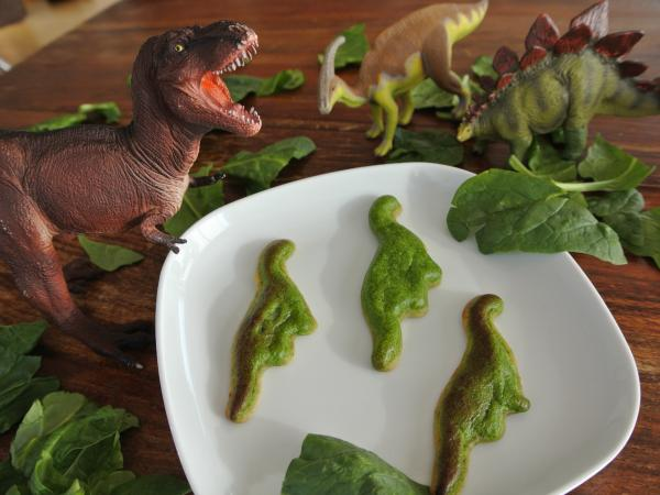 Dinosaur quiche, anyone? A traditional spinach quiche gets a technology makeover with the 3-D printer Foodini, which churns out foods in fun shapes, like dinosaurs and butterflies.
