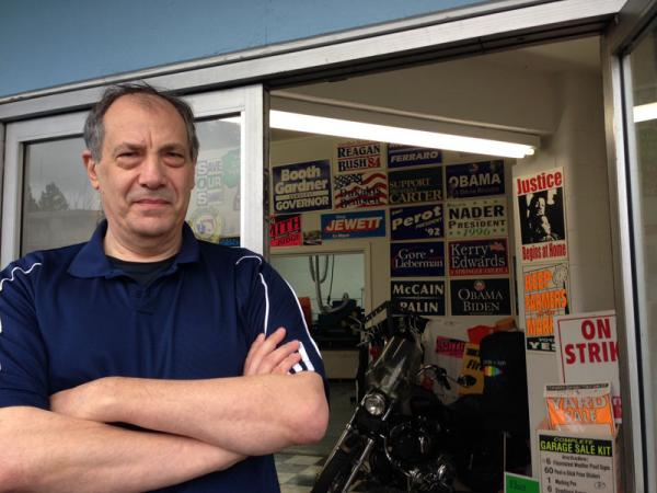 Art Boruck with Boruck Printing and Screening in Seattle has been making political signs for more than 40 years.