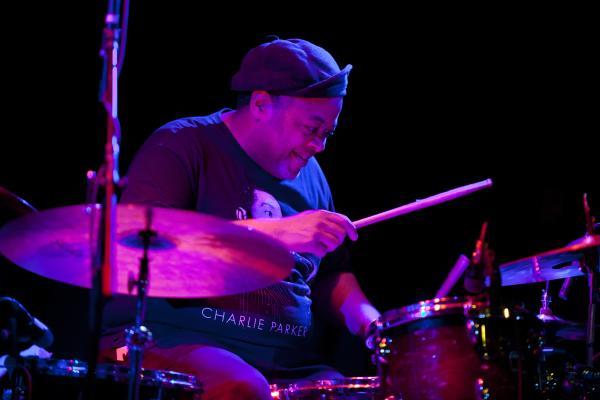 """Drummer Jeff """"Tain"""" Watts performed alongside guitarist Lionel Loueke."""
