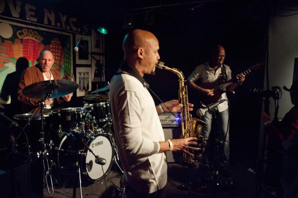 The trio led by Jeff Ballard, with saxophonist Miguel Zenón and guitarist Lionel Loueke, will soon release an album called <em>Time's Tales.</em>