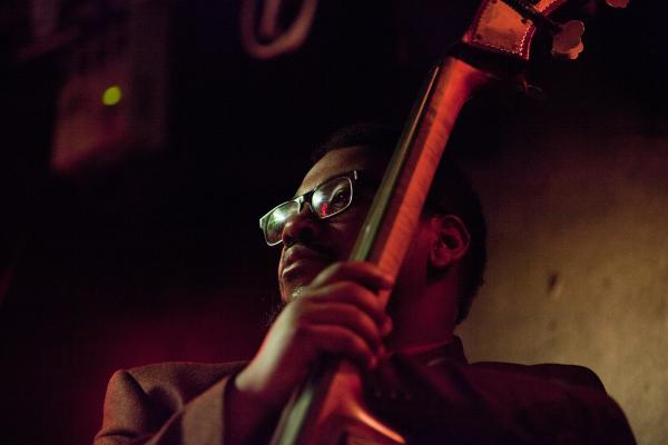 Bassist Dezron Douglas played with saxophonist Sharel Cassity on Friday night.