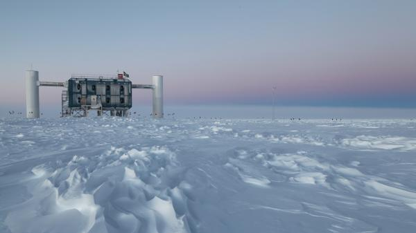 "The <a href=""http://icecube.wisc.edu/"">IceCube</a> observatory at the South Pole looks for neutrinos from the most violent astrophysical sources, like exploding stars."