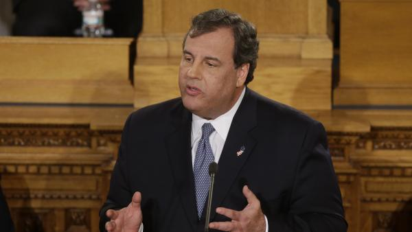 New Jersey Gov. Chris Christie delivers his State Of The State address Tuesday in Trenton, N.J.