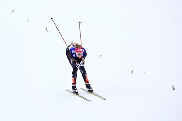 Sadie Bjornsen skied in the 2013 Nordic World Championships at Val di Fiemme, Italy.