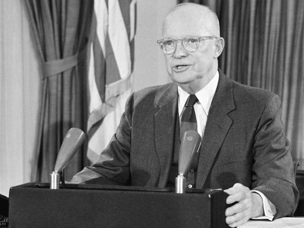 President Eisenhower during his farewell address to the nation on Jan. 17, 1961.