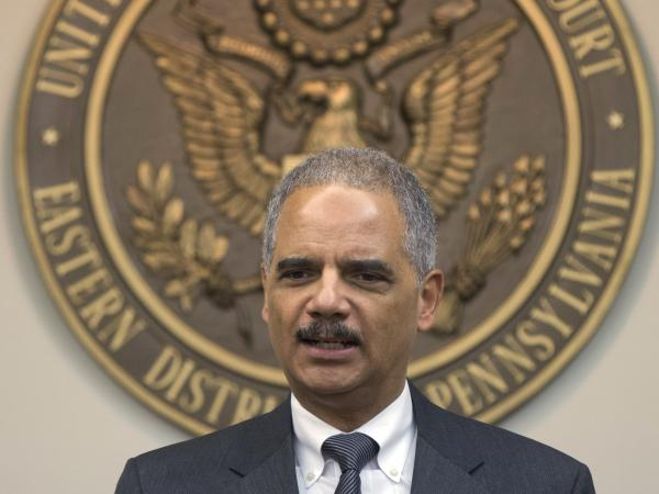 Attorney General Eric Holder speaks at a press conference at the U.S. Courthouse in Philadelphia on November 5, 2013