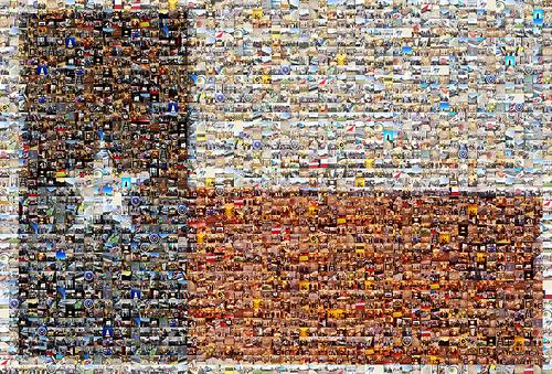 Photo mosaic of Lone Star Flag