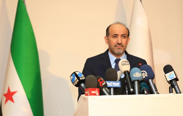 In Istanbul on Saturday, Syrian National Coalition President Ahmad Jarba announces the opposition group will attend the upcoming peace conference in Geneva.