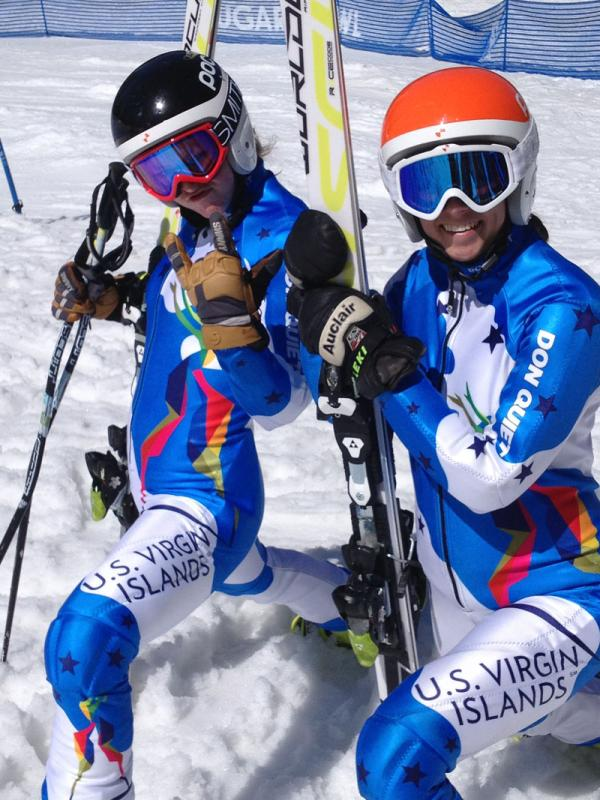 Both Olympic hopefuls racing for the U.S. Virgin Islands have Sun Valley ties. Jasmine Campbell (on left) is most likely to receive the one slot in Sochi allocated to the U.S territory. Sun Valley Ski Academy graduate (2013) Veronica Gaspar on right.