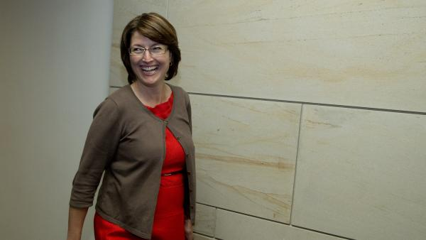 Rep. Cathy McMorris-Rodgers, R-Wash., walks to a Sept. 2013 classified, members-only briefing on Syria in Washington.