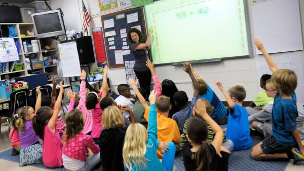 Silver Lake Elementary School in Middletown, Del., has begun implementing the national Common Core State Standards for academics. The GOP largely backs the standards that are rolling out in 45 states, but Tea Party conservatives have been critical — and liberals increasingly have the same complaints.