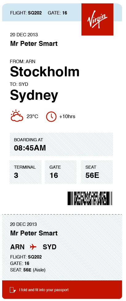 The better boarding pass design.