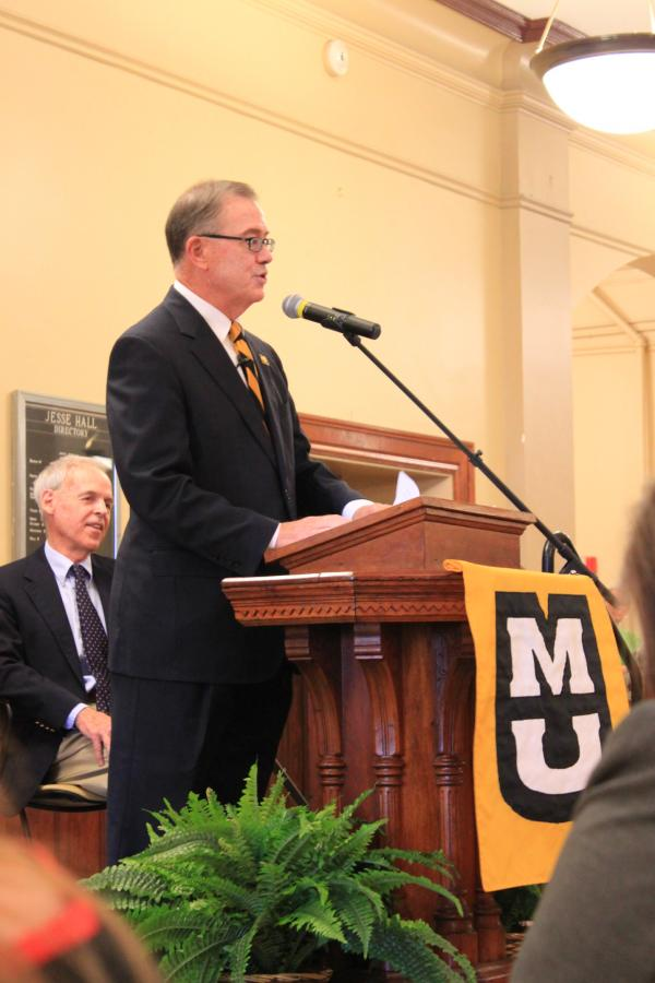 MU Chancellor Brady Deaton announces his retirement.