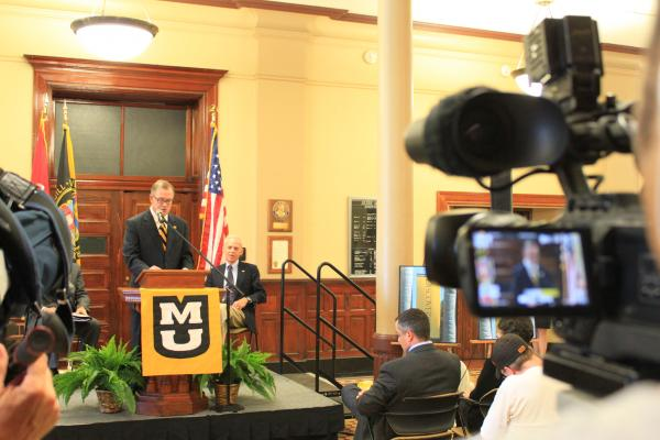MU Chancellor Brady Deaton announces his retirement on June 12, 2013
