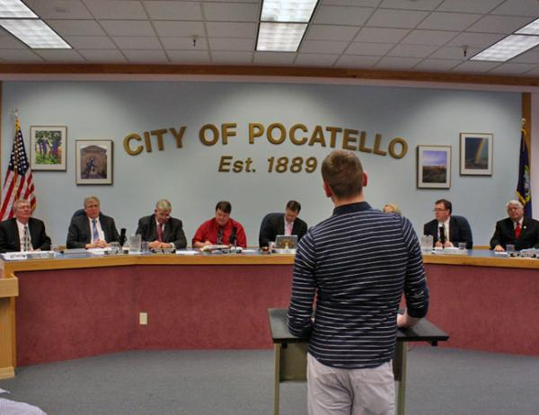 File photo. The Pocatello City Council took public comment on an anti-discrimination ordinance in April 2013.