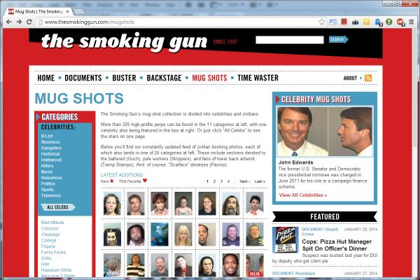 Mug shot sites, like the Smoking Gun, have long been a staple online. While some trade in celebrity mug shots, others publish publically available local mug shots.