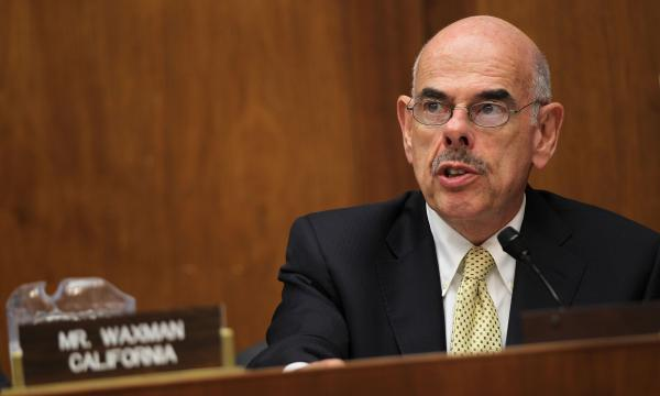 "Rep. Henry Waxman of California speaks during a 2011 hearing in Washington, D.C. The 20-term Democrat was among the ""Watergate babies"" elected in 1974."