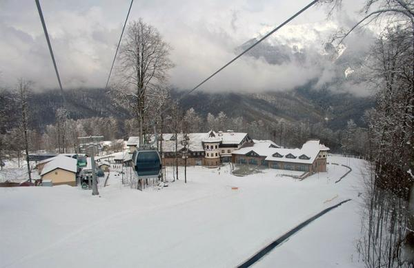 File photo of the Roza Khutor Alpine Resort, site of the alpine skiing events for the Sochi Games.