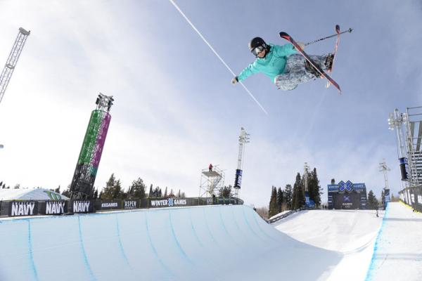 Angeli VanLaanen practices in the superpipe during last week's Winter X Games competition in Aspen, Colo.