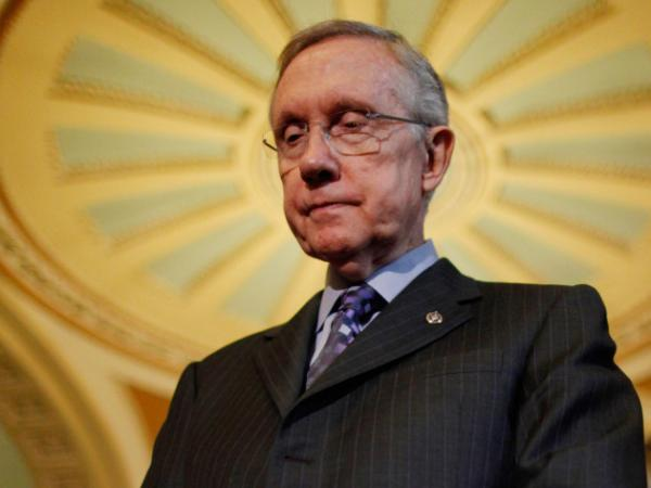Senate Majority Leader Harry Reid (D-NV) at the Capitol last week.