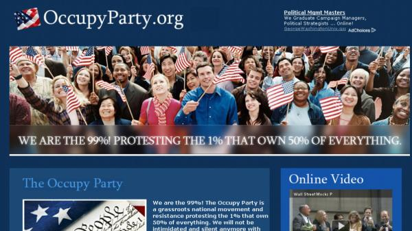 "<p>A new website purports to be the work of ""Occupy Party"" — but the Occupy Wall Street movement hasn't heard of it. And it mainly features Google Ads, not grass-roots information.</p>"