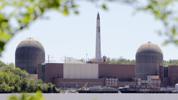 <p>The nuclear power plant at Indian Point in Buchanan, N.Y., is seen with the Hudson River in the foreground. Gov. Andrew Cuomo's stated resolve to close Indian Point has sparked a debate about the energy outlook for metropolitan New York.</p>