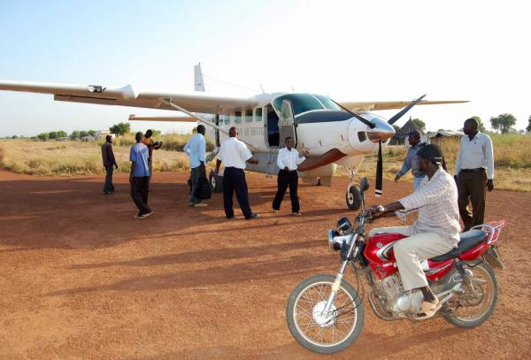 <p>Small planes are a common way to move around South Sudan, which has few paved roads. Many roads are impassable during rain.</p>