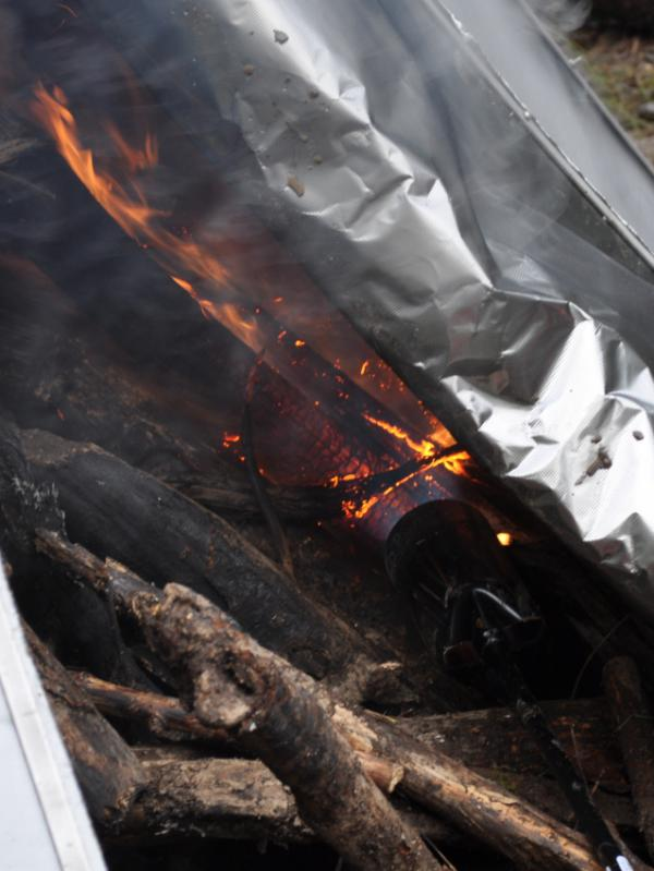 <p> An I-Corps team from the University of Washington is working on bringing their pyrolysis blanket to the market. Forest debris are set on fire then covered by the blanket to reduce oxygen, turning ordinary open-air combustion into a process called pyrolysis. The resulting material, known as biochar, can help soil retain moisture and nutrients. </p>