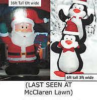 The missing Santa and penguins as seen on McClaren's reward poster.
