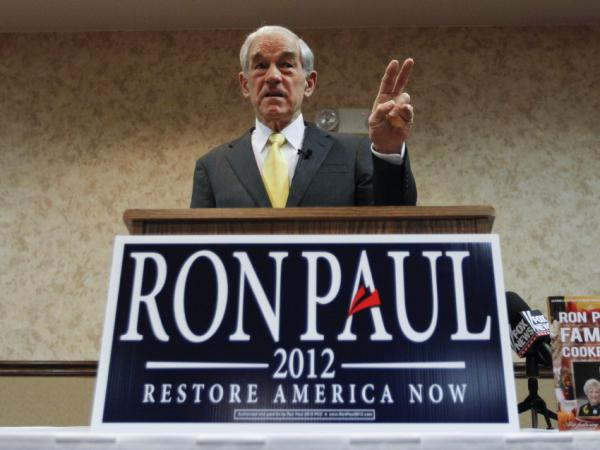 Rep. Ron Paul of Texas speaks during a campaign stop in Fort Madison, Iowa on Dec. 21.