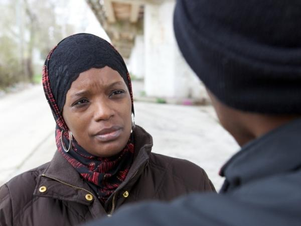Ameena Matthews, a violence interrupter with the Chicago organization CeaseFire, mediates disputes to prevent gang violence from escalating.